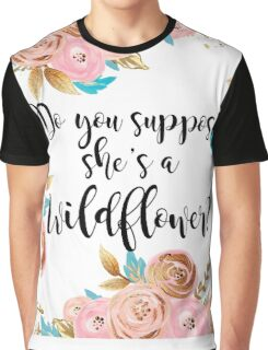 Blush pink and gold wildflower Graphic T-Shirt