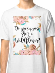 Blush pink and gold wildflower Classic T-Shirt