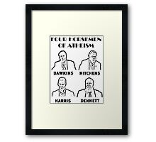 FOUR HORSEMEN OF ATHEISM Framed Print