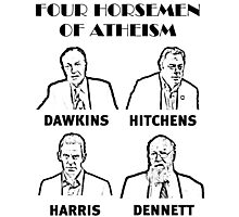 FOUR HORSEMEN OF ATHEISM Photographic Print