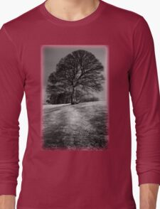 Tree Shaped by the Wind Long Sleeve T-Shirt