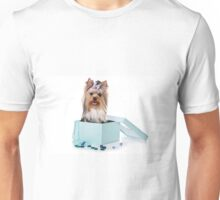 Glamorous York dog with long hair Unisex T-Shirt