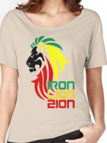 Reggae Rasta Iron, Lion, Zion 2 Women's Relaxed Fit T-Shirt