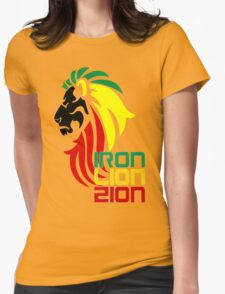 Reggae Rasta Iron, Lion, Zion 2 Womens Fitted T-Shirt