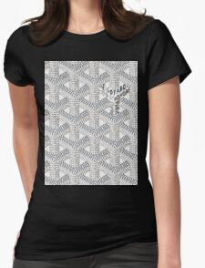 goyard logo Womens Fitted T-Shirt