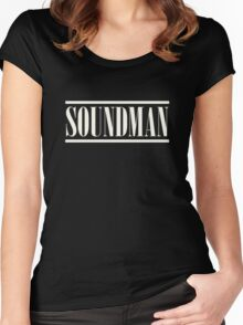 Soundman White Women's Fitted Scoop T-Shirt