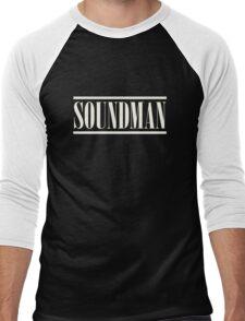Soundman White Men's Baseball ¾ T-Shirt