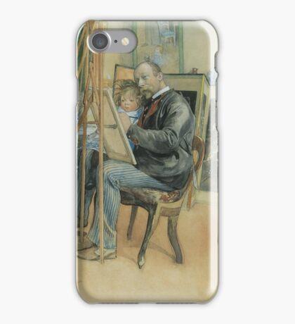 Carl Larsson. SPEGELBILD MED BRITA (MIRROR-IMAGE WITH BRITA) iPhone Case/Skin