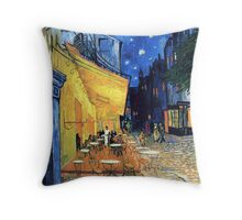Vincent van Gogh - The Cafe Terrace on the Place de Forum in Arles at Nigh Throw Pillow