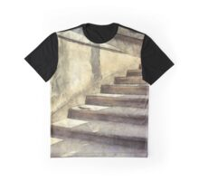 Staircase at Pitti Palace Florence Pencil Graphic T-Shirt