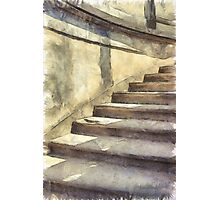 Staircase at Pitti Palace Florence Pencil Photographic Print