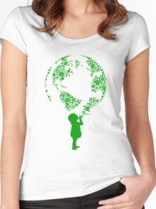 Earth Child (green) Women's Fitted Scoop T-Shirt