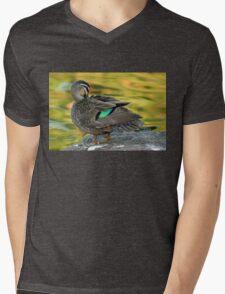 Duck Preening Mens V-Neck T-Shirt