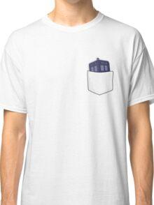 Pocket Protector - Tardis Classic T-Shirt