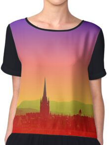 Edinburgh Skyline Chiffon Top