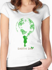 Earth Day Child Women's Fitted Scoop T-Shirt