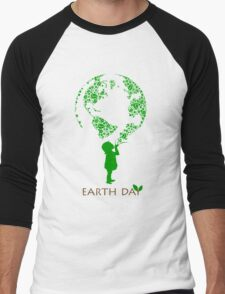 Earth Day Child Men's Baseball ¾ T-Shirt