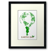 Earth Day Child Framed Print