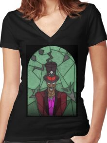 Voodoo Doctor - stained glass villains Women's Fitted V-Neck T-Shirt
