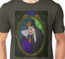 Mirror mirror - stained glass villains Unisex T-Shirt