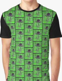 Robotic Bowler Hat - stained glass villains Graphic T-Shirt