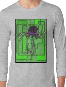 Robotic Bowler Hat - stained glass villains Long Sleeve T-Shirt