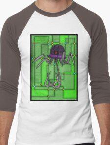 Robotic Bowler Hat - stained glass villains Men's Baseball ¾ T-Shirt