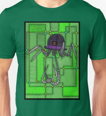 Robotic Bowler Hat - stained glass villains Unisex T-Shirt