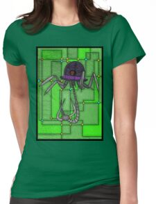 Robotic Bowler Hat - stained glass villains Womens Fitted T-Shirt