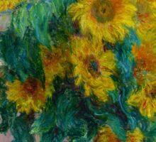 Claude Monet - Bouquet of Sunflowers Sticker