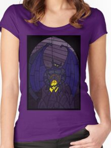 Demon in the mountain - Stained glass villains Women's Fitted Scoop T-Shirt