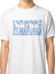 Blue Floral Seamless Pattern Classic T-Shirt