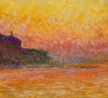 Claude Monet - Dusk in Venice Sticker