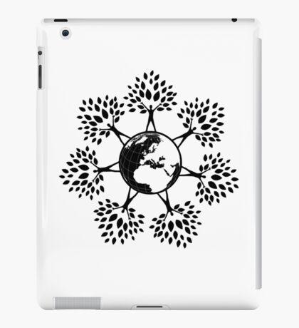 Earth Tree People (black) iPad Case/Skin