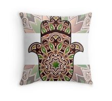 ethnic hamsa background Throw Pillow