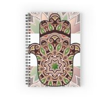 ethnic hamsa background Spiral Notebook