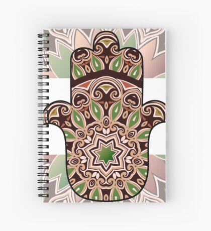 ethnic hamsa background Spiral Notebook