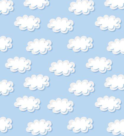 Cute clouds seamless pattern Sticker