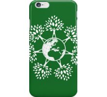 Earth Tree People (white) iPhone Case/Skin