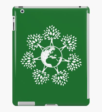 Earth Tree People (white) iPad Case/Skin
