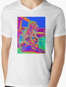 Blue Sky Mens V-Neck T-Shirt