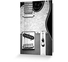 Fender Telecaster Monochrome Greeting Card