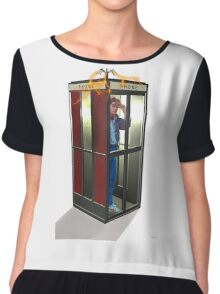 Bill, Ted & Marty ! Back to the Future / Excellent Adventure Mash! Chiffon Top