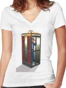 Bill, Ted & Marty ! Back to the Future / Excellent Adventure Mash! Women's Fitted V-Neck T-Shirt