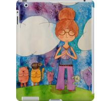 Meditation Girl and Friends iPad Case/Skin