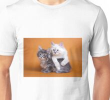 Lovely fluffy kitten charming Siberian cat Unisex T-Shirt