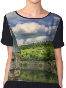 Pontsticill Reservoir Tower Powys, South Wales Chiffon Top