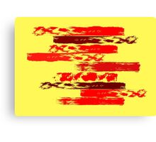 Variations on red and yellow Canvas Print