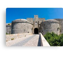 Gate to the old town Rhodes Greece Europe Canvas Print