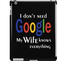 I don't need google iPad Case/Skin